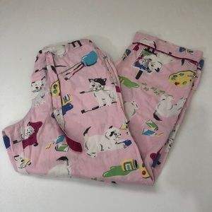 Nick & Nora artist cat pajama pants